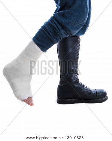 War And Injury - Cast And Combat Boot Concept