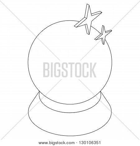 Magic ball icon in isometric 3d style on a white background