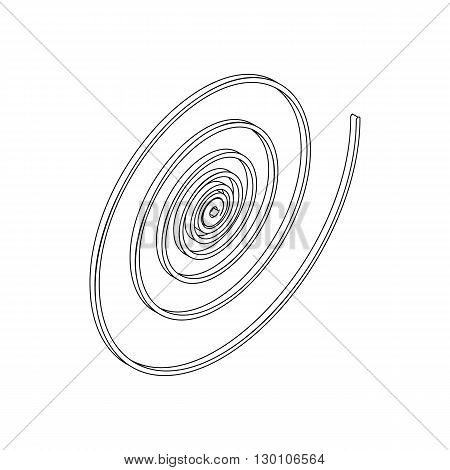 Spiral icon in isometric 3d style on a white background