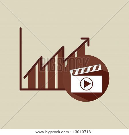 video production design, vector illustration eps10 graphic