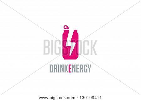 Energy drink Logo design vector. Energetic Logotype icon