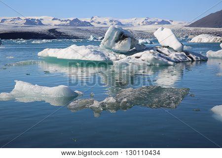 Icebergs in the Jokulsarlon Lagoon. Iceland. Scandinavia