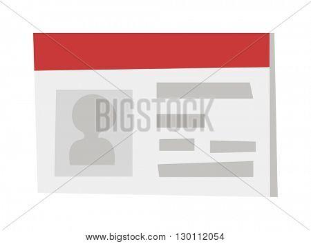 Identification card icon vector illustration