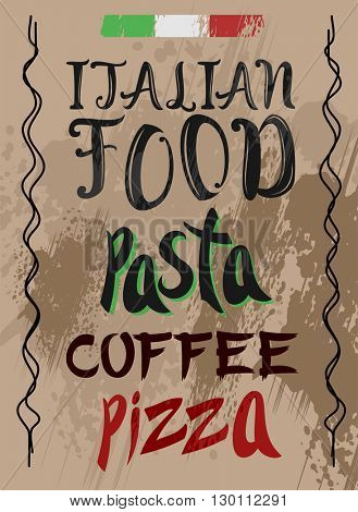 Hand Drawn Pizza and Pasta menu template