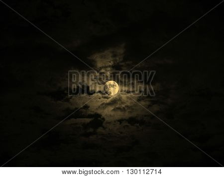 Moon Picture Sepia