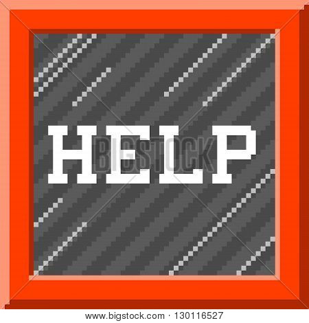 Help message written inside a