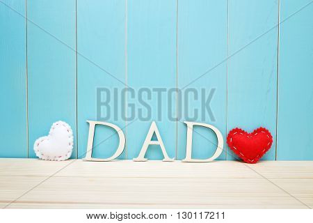 Father's Day Celebration Theme With Dad Letters