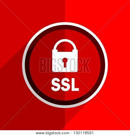 red flat design ssl web modern icon