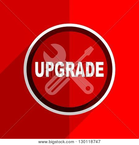 red flat design upgrade web modern icon