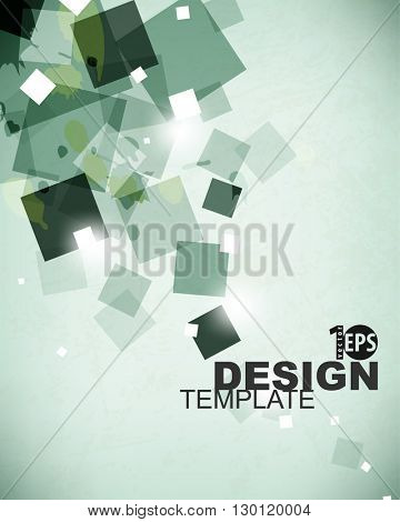 abstract design brochure leaflet geometric polygon elements background. eps10 vector