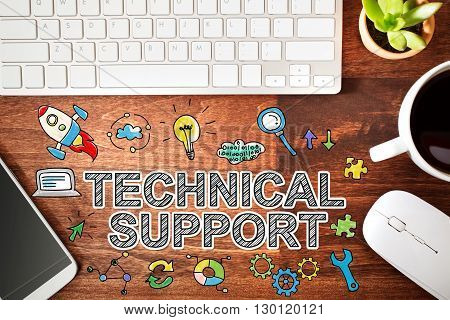 Technical Support Concept With Workstation