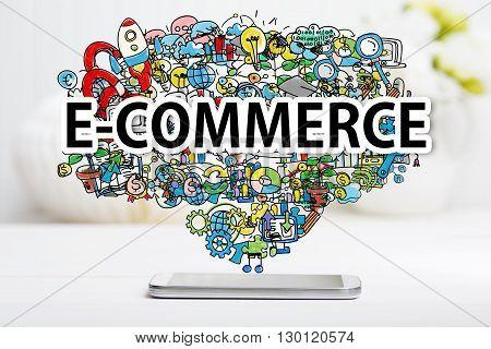 E-commerce Concept With Smartphone