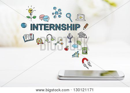 Internship Concept With Smartphone