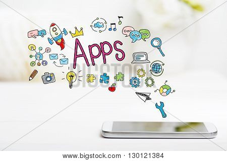 Apps Concept With Smartphone