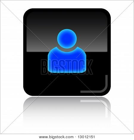 Account glossy web icon