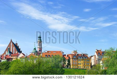 Warsaw city, Poland - view at old town