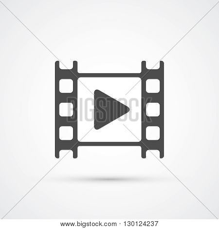 Movie film play trendy icon. Vector illustration