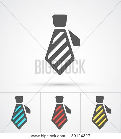 Necktie colorful flat trendy icon. Vector illustration