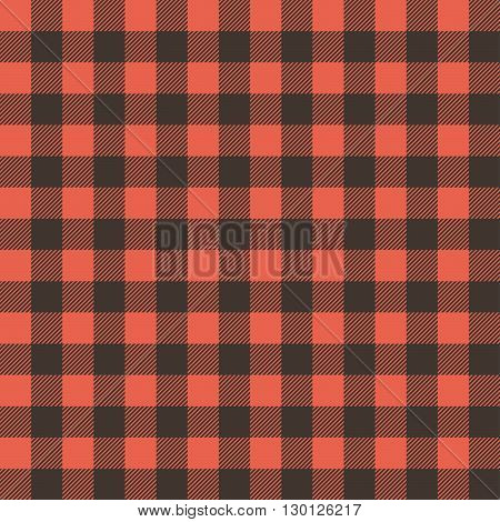 Vector Illustration Of A Red Black Checked Tablecloth For Background