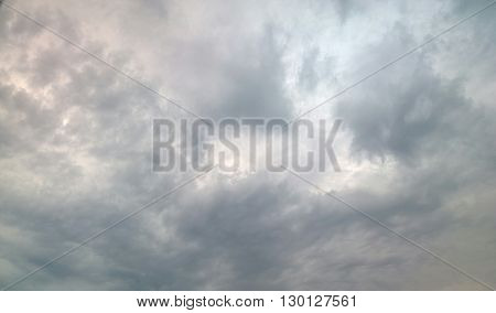 This picture was taken of clouds on a rainy morning. I though this section had a marble look to it.