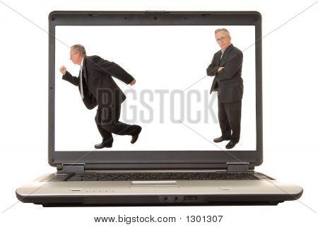 Laptop Senior Businessman