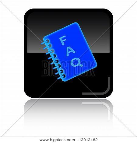 FAQ glossy web icon
