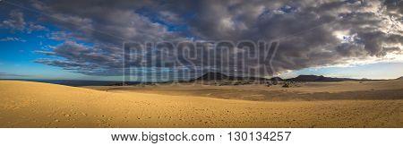 Dunes National Park in Corralejo, Fuerteventura, Canary Islands, Spain