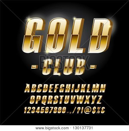 Golden alphabetic fonts and numbers