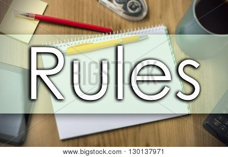 Rules -  Business Concept With Text