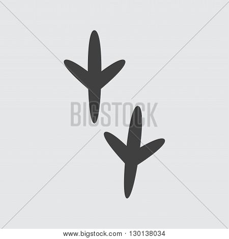 Bird footprint icon illustration isolated vector sign symbol
