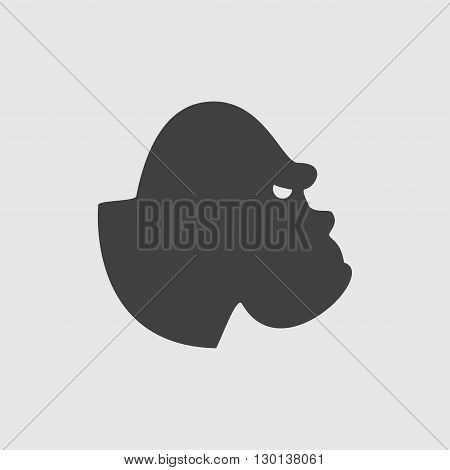 Gorilla icon illustration isolated vector sign symbol