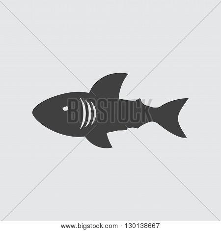 Shark icon illustration isolated vector sign symbol