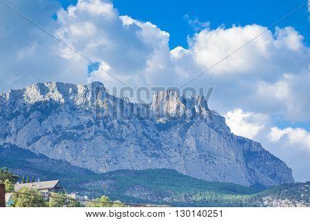 beautiful view of the mountain cliff Ai-Petri Crimea