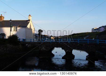 Bridge over the river Neet Bude Cornwall