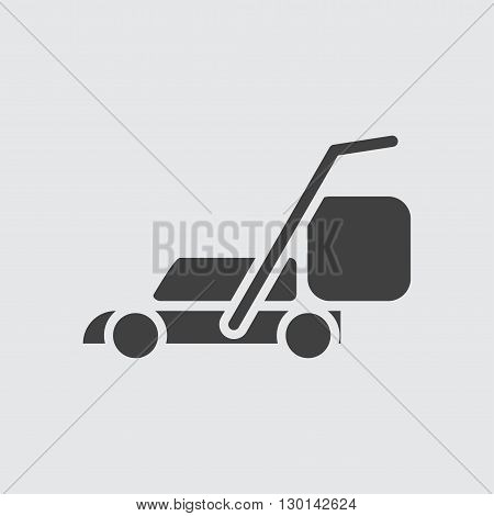 Lawn mower icon illustration isolated vector sign symbol