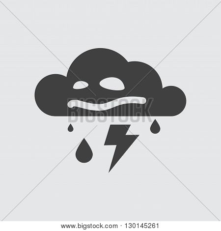 Storm icon illustration isolated vector sign symbol