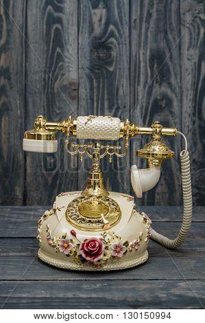 Retro Phone As Home Decoration