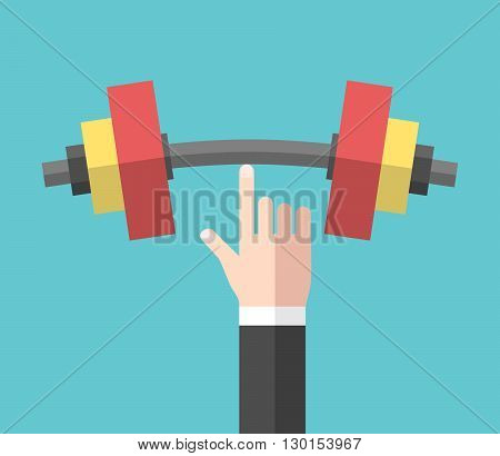 Strong Hand Holding Dumbbell