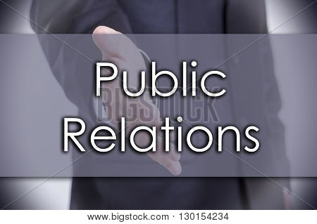 Public Relations - Business Concept With Text