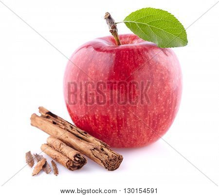 Apple with cinnamon spice