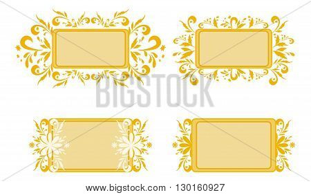 Abstract backgrounds, banners, plates with floral pattern. Vector