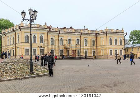 Vologda, Russia - May 24: Lace Museum is a two-story stone building - an architectural monument of the cultural heritage of the XVIII century May 24, 2013 in Vologda, Russia.