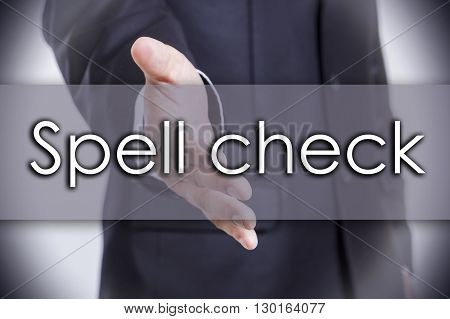 Spell Check - Business Concept With Text
