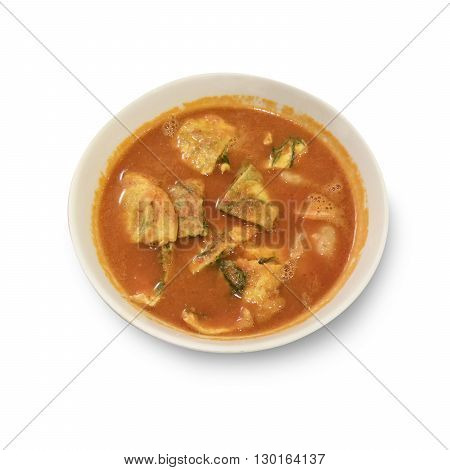 Accacia Leave Omelet And Shrimp In Tamarind Flavor Sour Soup