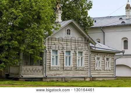 Vologda, Russia - May 24: This house is a museum piece demonstrating the wooden architecture of the Russian North May 24, 2013 in Vologda, Russia.