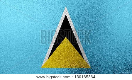 Flag of Saint Lucia painted on glass