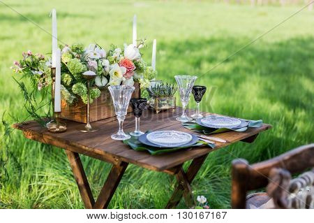 Wedding Decor. Table For The Newlyweds