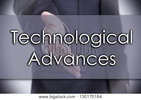 Technological Advances - Business Concept With Text