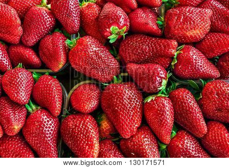 fresh strawberry colorful group. top view. health fruit