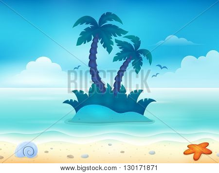 Beach topic image 1 - eps10 vector illustration.